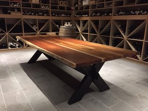 Cellar Table by GLENCROSS FURNITURE - Cellar Table, Dining Table, Table, Contemporary, Bespoke Design, Fine Furniture, Trestle Table, Blackwood, Boardroom Table