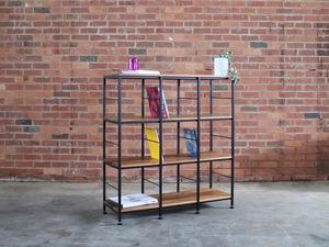 Gold Record Shelves by GLENCROSS FURNITURE - Record Shelves, Shelves, Bookshelf, Modern, Bespoke Design, Custom Made, Blackwood, Steel, Cool, Storage