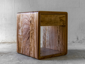 Fairlight Bedside by James May - Bedside Table, Mayde Furniture, Timber Bedside, Side Tables, Bedroom, Table, Storage