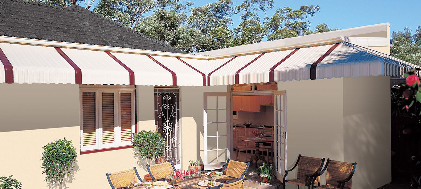 Luxaflex - Products - Exterior Collection - Fixed Metal Awnings Banner image