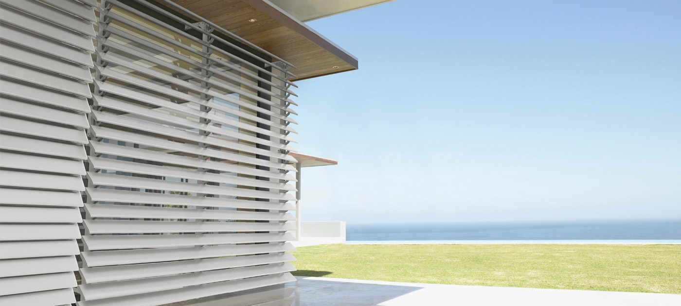 Luxaflex Showcase - Products - Exterior Collection - Metal Louvre Awnings Banner image