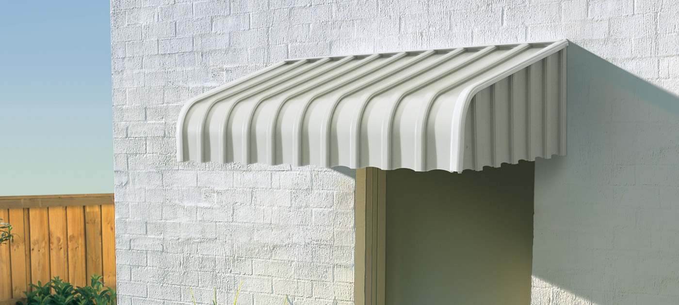 Luxaflex Showcase - Products - Exterior Collection - Fixed Metal Awnings Banner image
