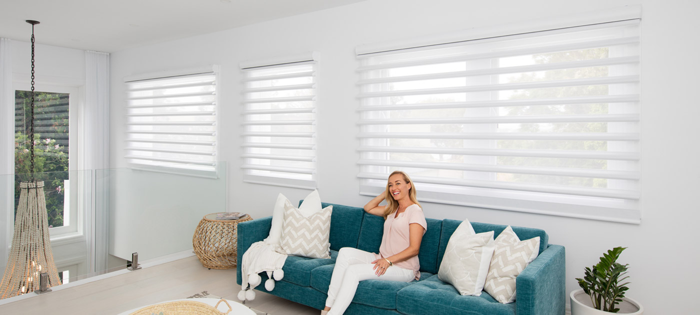 Luxaflex Showcase - Products - Softshades and Fabrics - Pirouette Shadings Banner 2 image