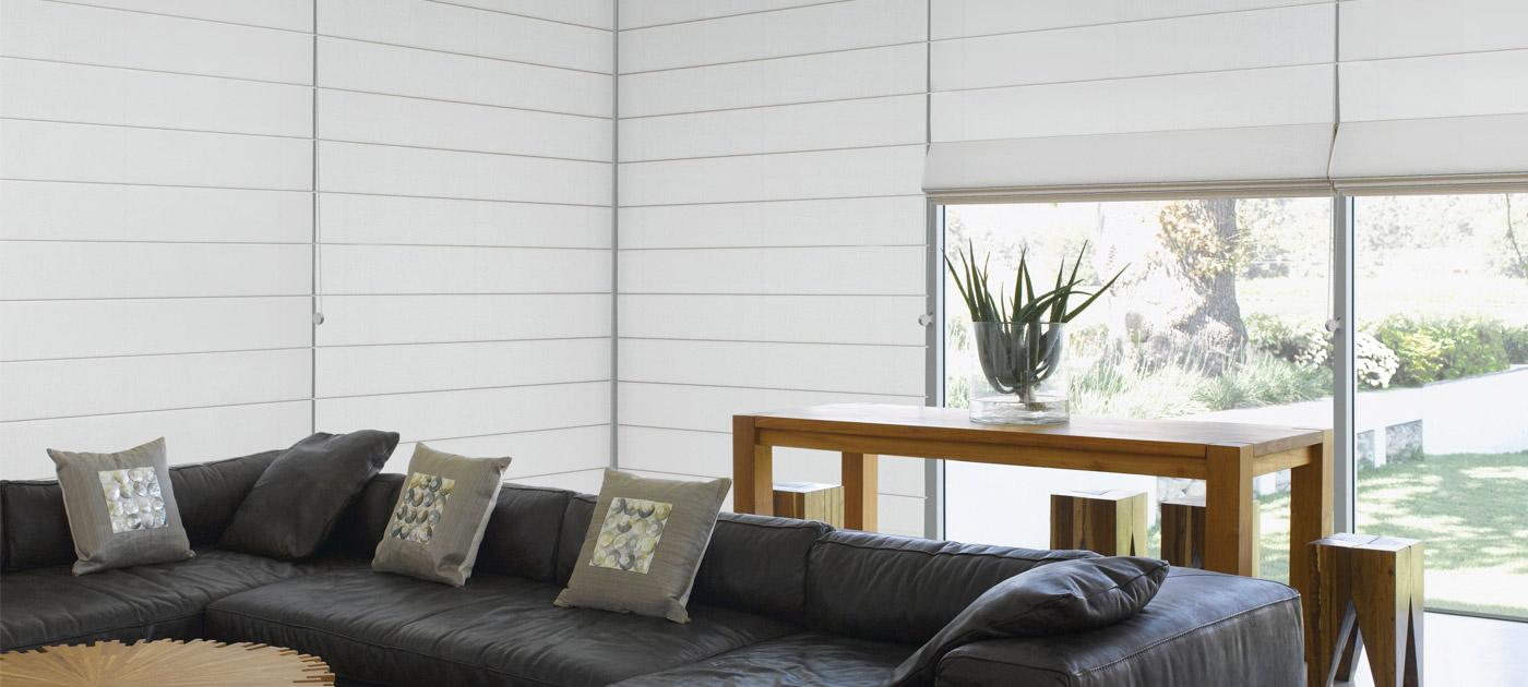 Luxaflex Showcase - Products - Softshades and Fabrics - Roman Shades Banner image