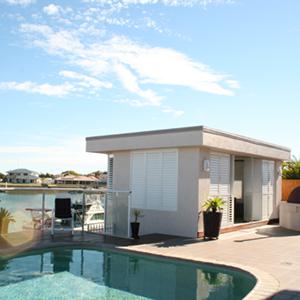 Weatherwell White Multi-fold Pool house