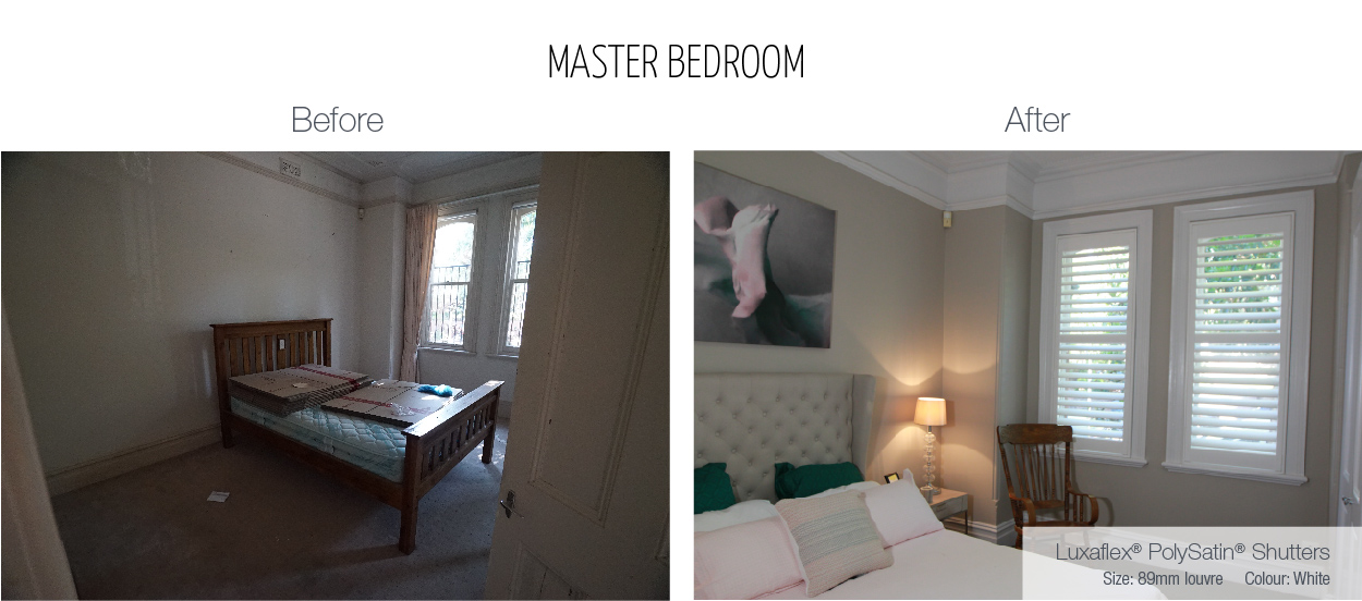 Luxaflex - Blog - Selling Houses Australia - EP1 - Master Bedroom