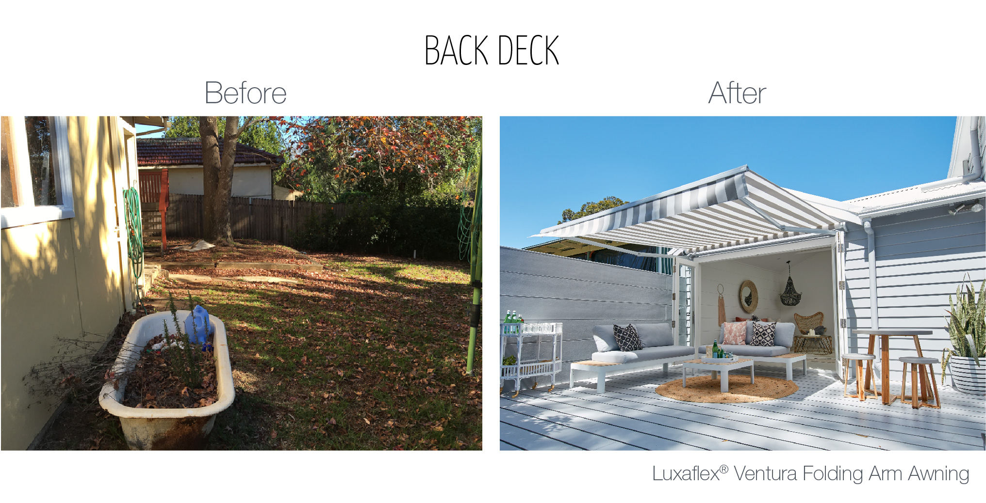 Luxaflex - Blog - Three Birds - Back Deck