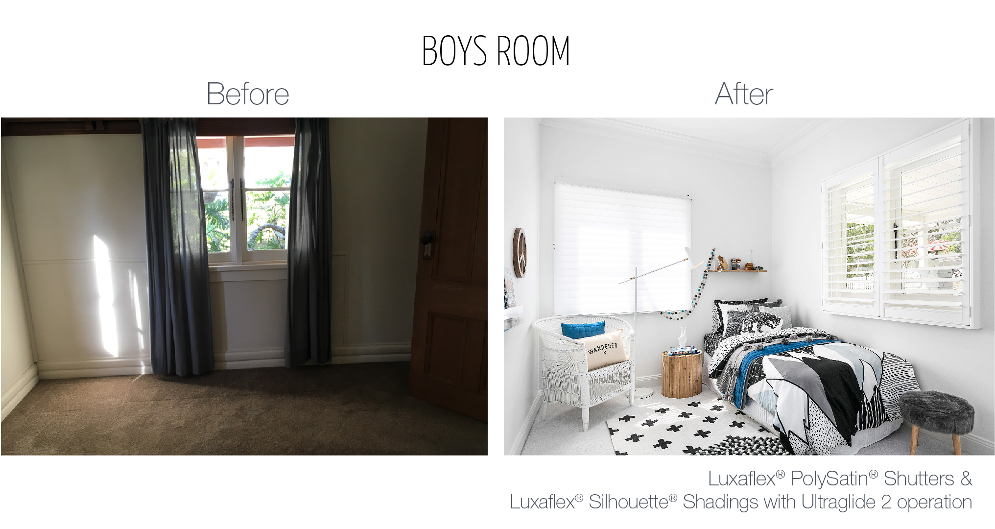 Luxaflex - Blog - Three Birds - Boys Room