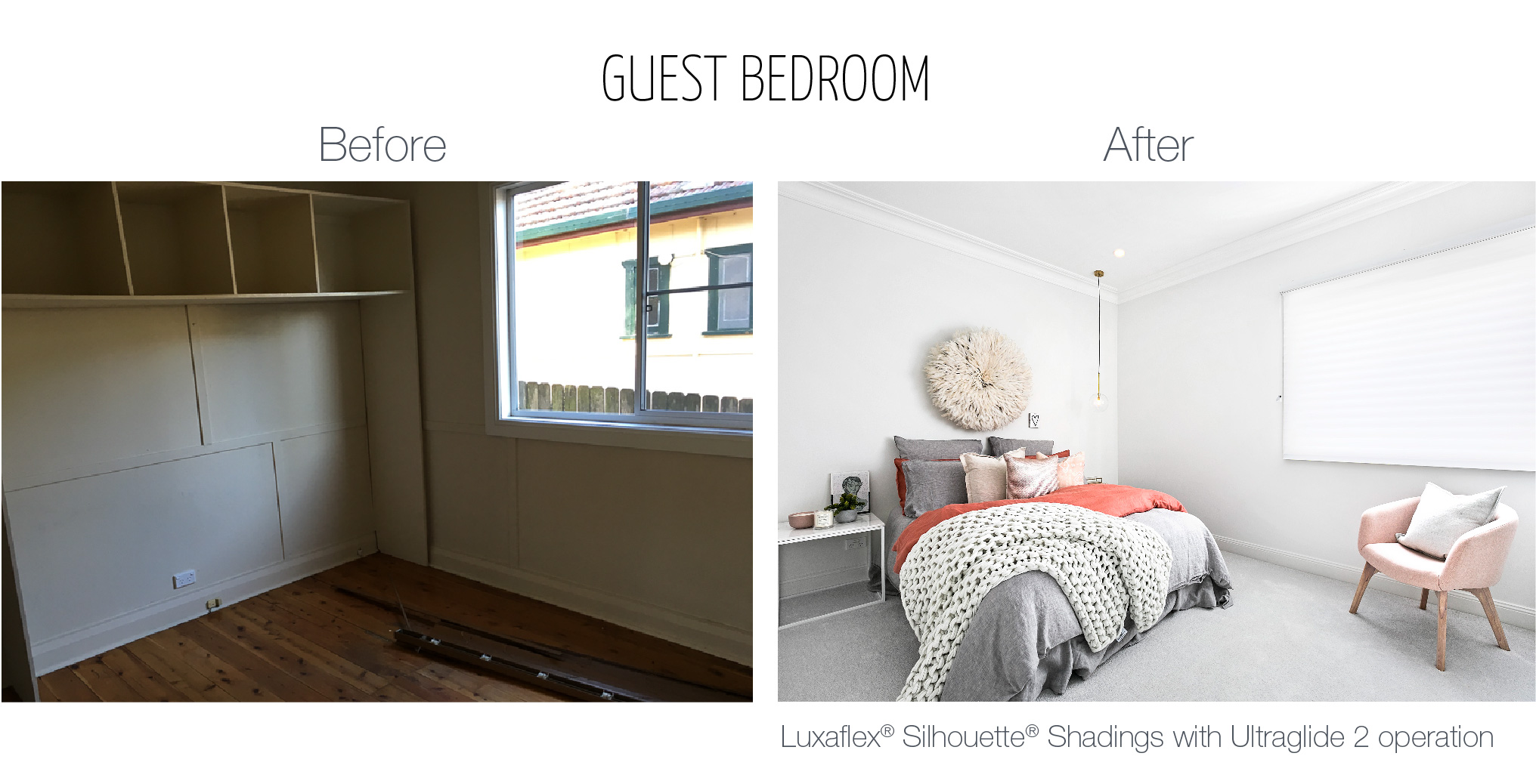 Luxaflex - Blog - Three Birds - Guest Bedroom