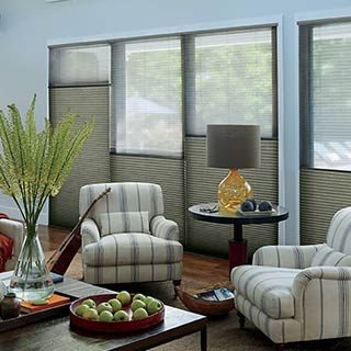 Top-Down/Bottom-Up Shades with PowerView Motorisation