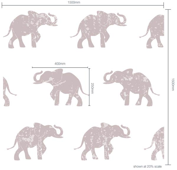 Luxaflex - Products - Prints - Kids - Elephant Dimensions