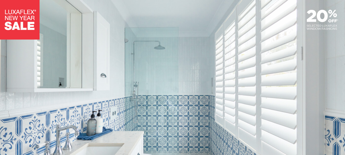 Luxaflex - Products - Shutters and Venetians - PolySatin Shutters Banner - Sale image