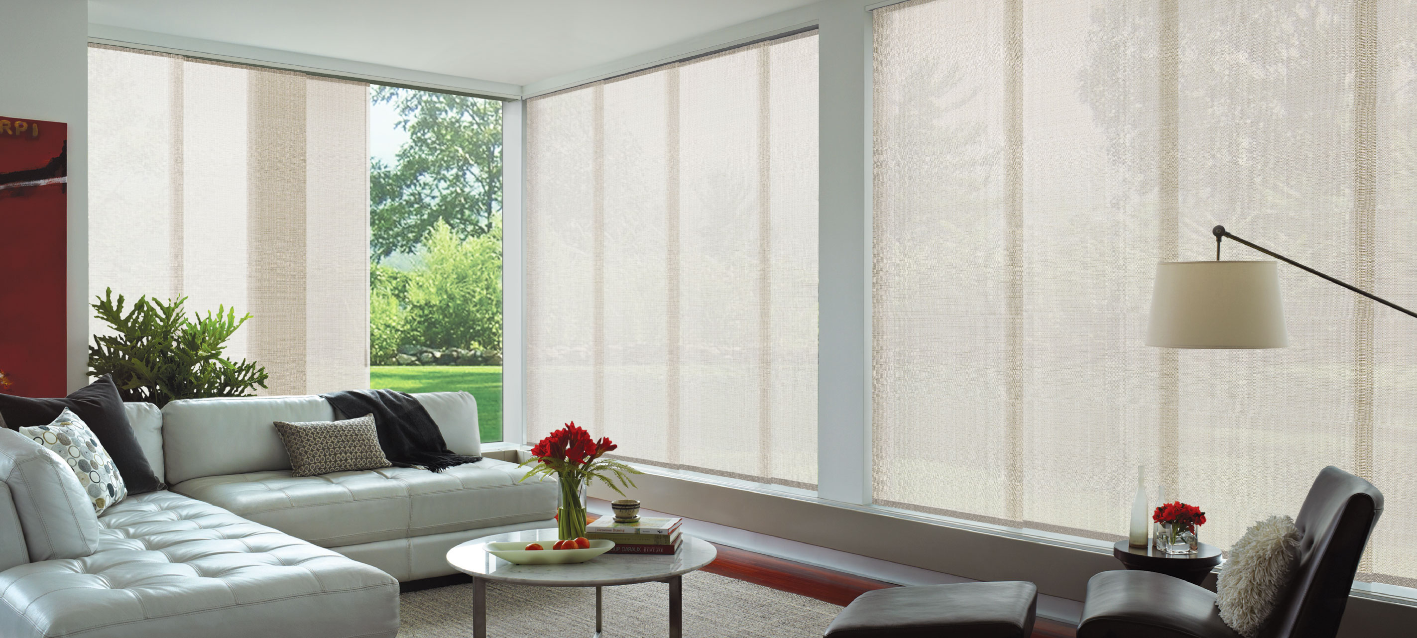Luxaflex - Products - Softshades and Fabrics - Panel Glide Blinds Banner 2 image