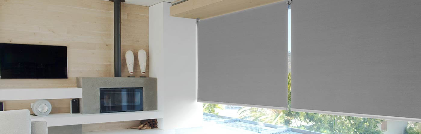 dalston roller grey modern in blackout blind covering window treatment blinds to new pin london bedroom apartment fitted