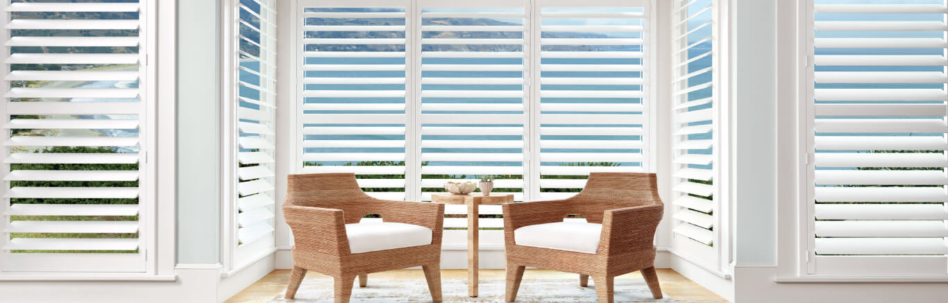 Luxaflex Showcase - Products - Shutters and Venetians - Polysatin Shutters Bottom