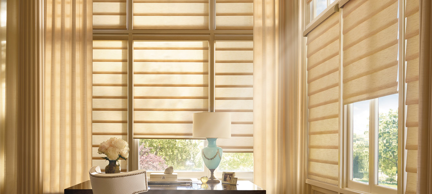 Luxaflex Showcase - Products - Softshades and Fabrics - Modern Roman Shades Banner 2 image