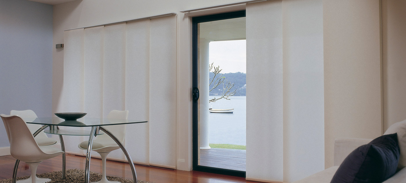 Luxaflex Showcase - Products - Softshades and Fabrics - Panel Glide Blinds Banner 2 image