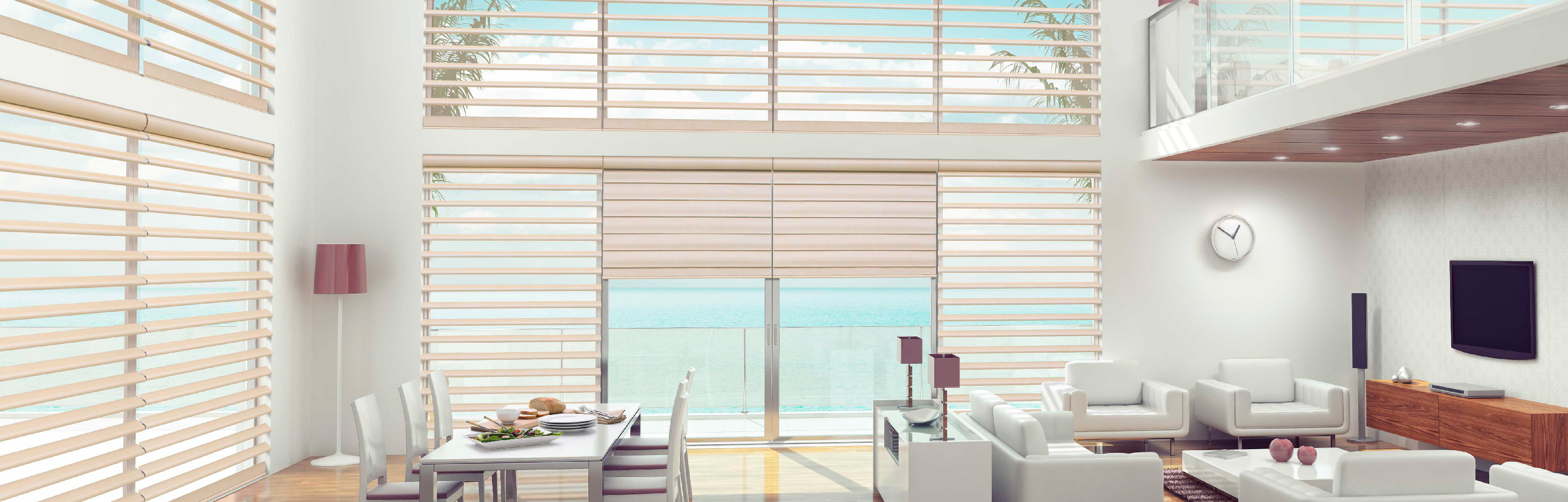 Luxaflex Showcase - Products - Softshades and Fabrics - Pirouette Shadings Bottom