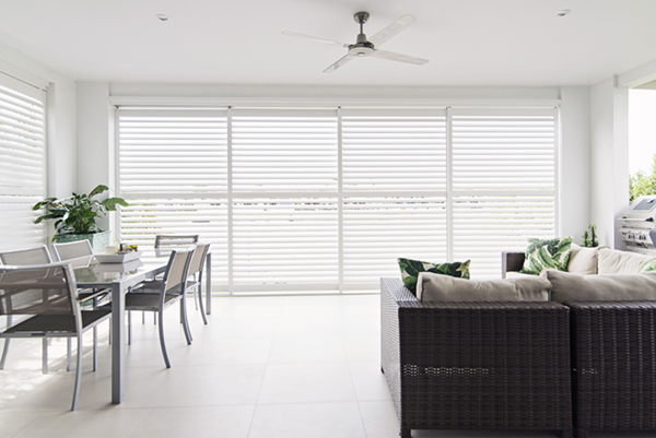 Weatherwell White Sliding External Shutters