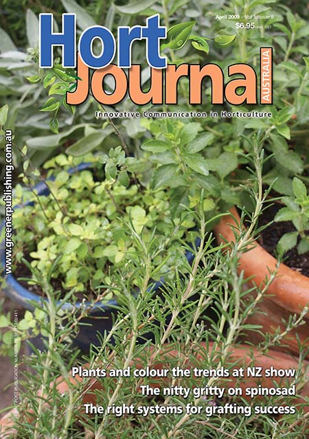 Cover of Hort Journal Australia April 2009