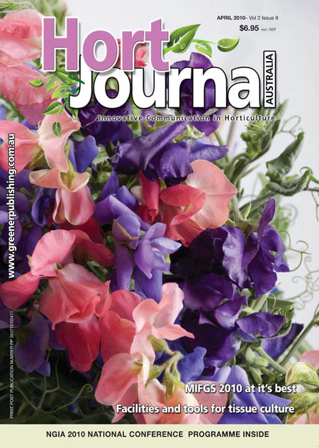 Cover of Hort Journal Australia April 2010