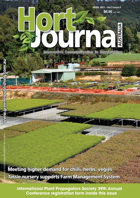 Cover of Hort Journal Australia April 2011