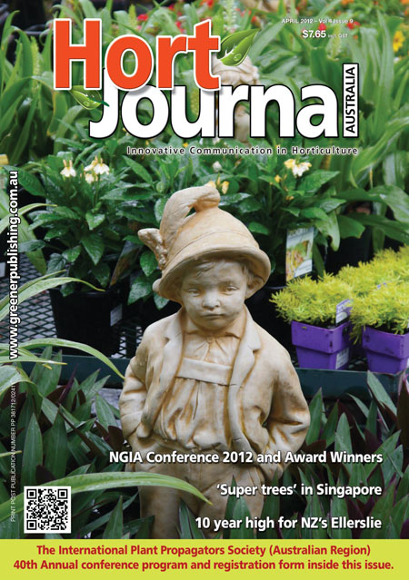 Cover of Hort Journal Australia April 2012