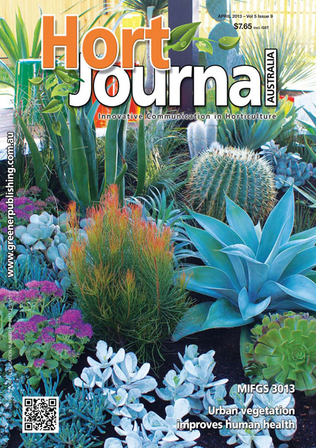 Cover of Hort Journal Australia April 2013