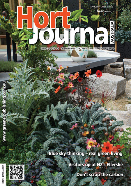 Cover of Hort Journal Australia April 2014