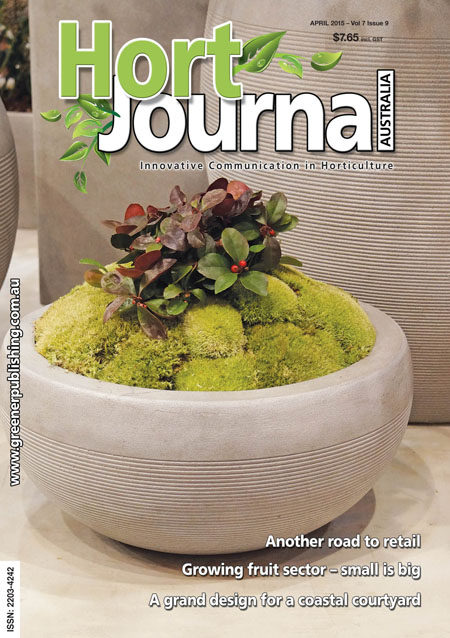 Cover of Hort Journal Australia April 2015