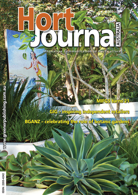 Cover of Hort Journal Australia April 2016