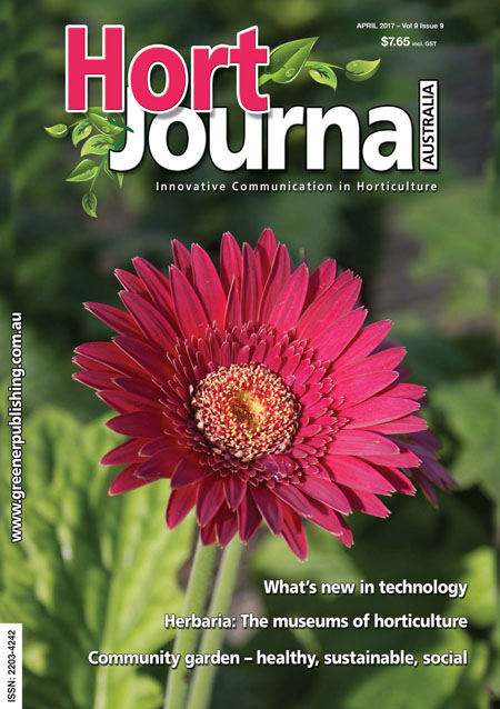 Cover of Hort Journal Australia April 2017