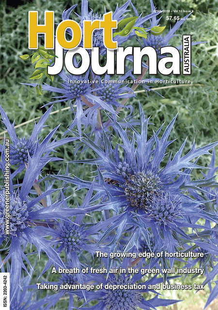 Cover of Hort Journal Australia April 2018