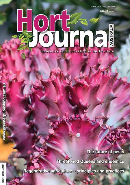 Cover of Hort Journal Australia April 2020