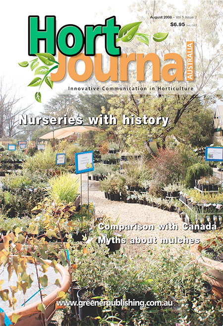 Cover of Hort Journal Australia August 2008