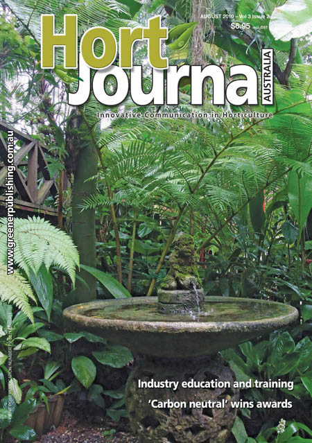 Cover of Hort Journal Australia August 2010
