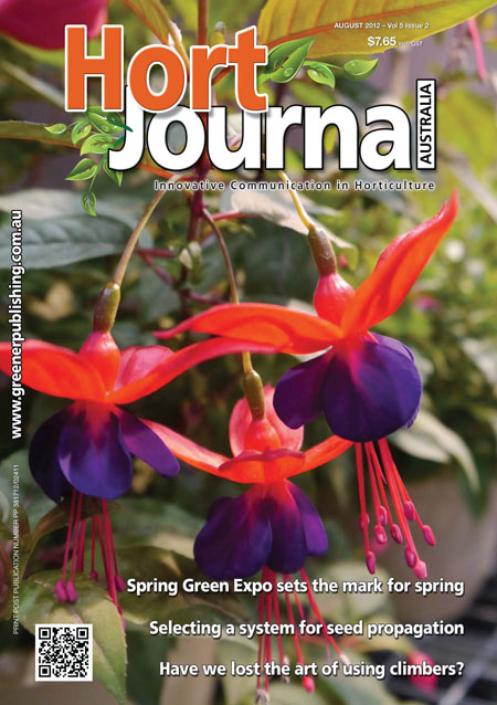 Cover of Hort Journal Australia August 2012