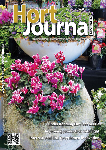 Cover of Hort Journal Australia August 2013