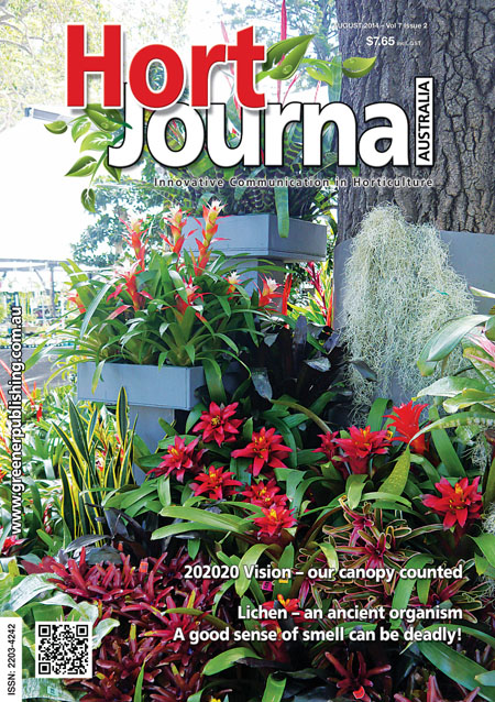 Cover of Hort Journal Australia August 2014