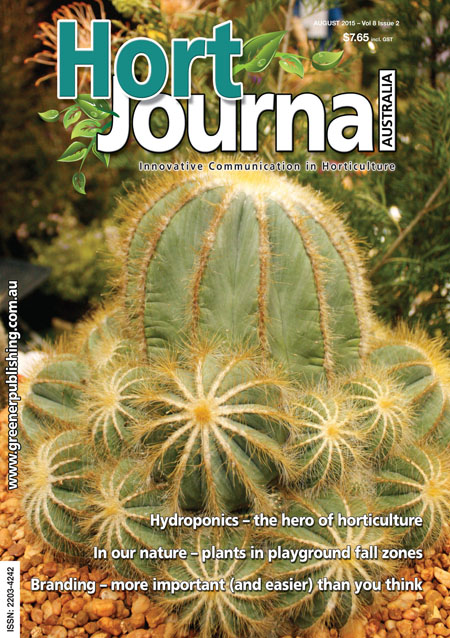 Cover of Hort Journal Australia August 2015