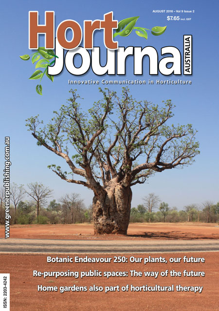 Cover of Hort Journal Australia August 2016