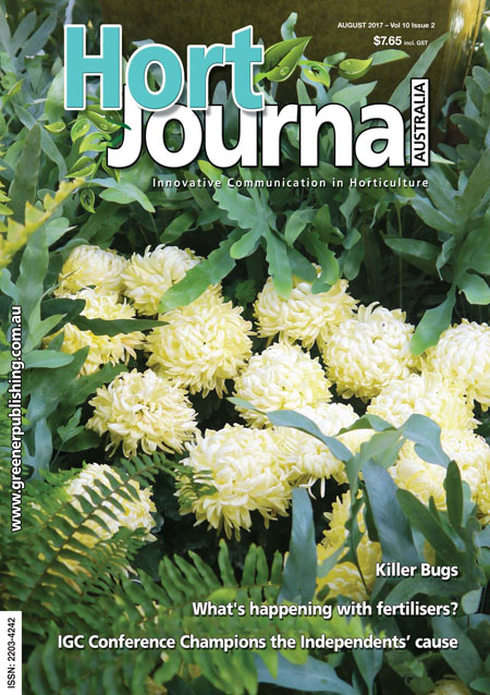 Cover of Hort Journal Australia August 2017