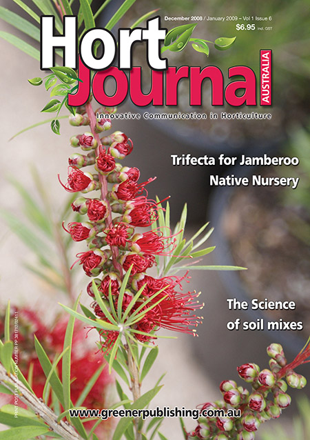 Cover of Hort Journal Australia December 2008