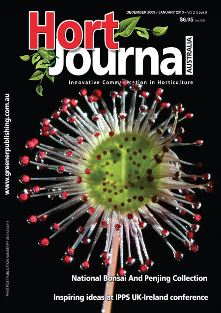 Cover of Hort Journal Australia December 2009