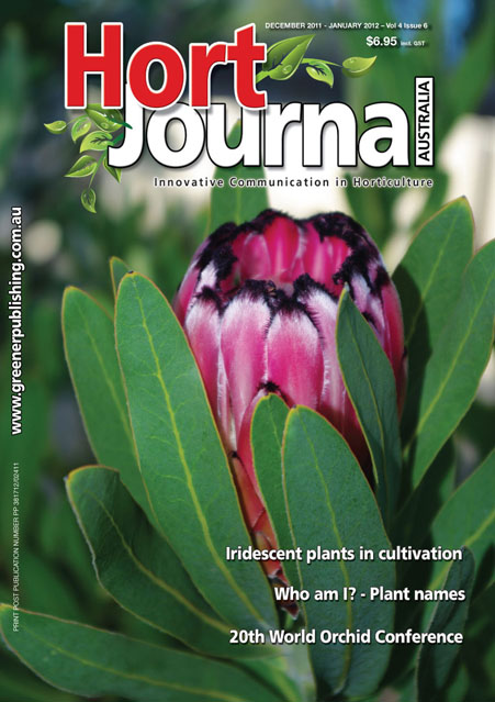 Cover of Hort Journal Australia December 2011