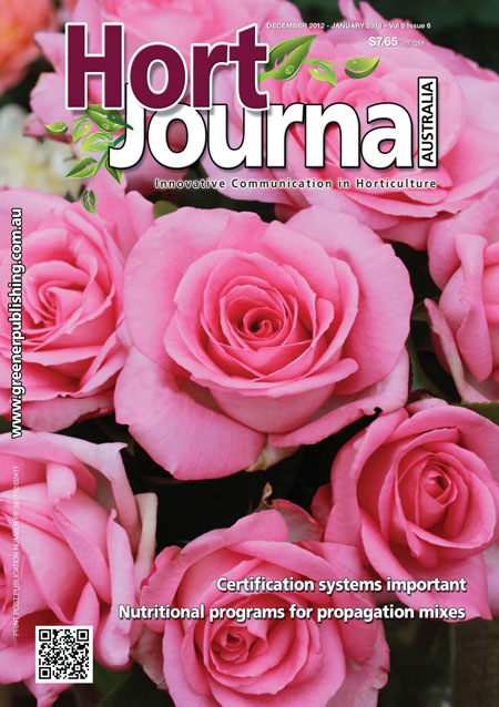 Cover of Hort Journal Australia December 2012