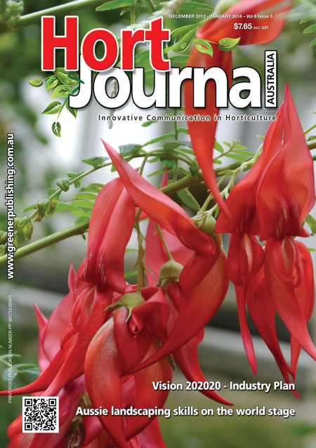 Cover of the current issue of Hort Journal Australia