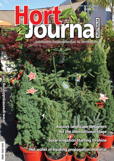 Cover of Hort Journal Australia December 2014