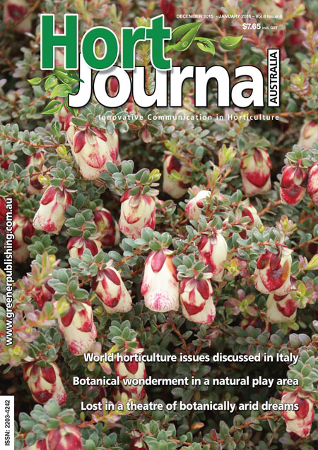 Cover of Hort Journal Australia December 2015