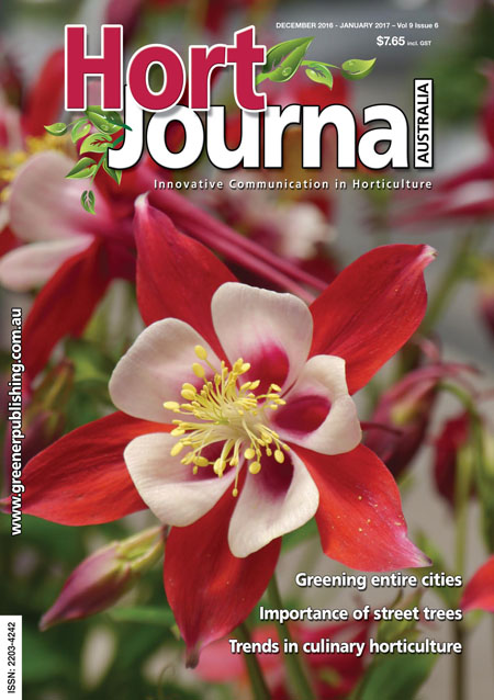 Cover of Hort Journal Australia December 2016